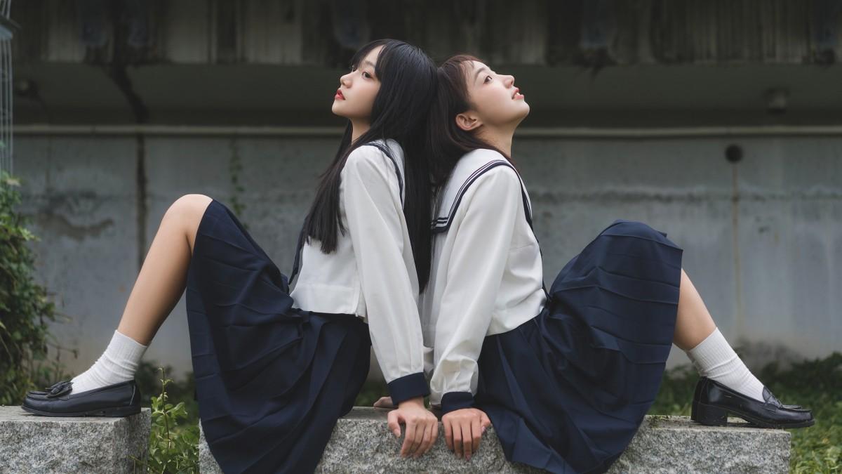 校园jk姐妹花照片(1/7)
