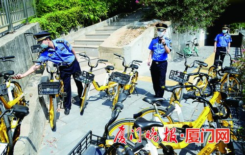 整顿单车违停 厦门13万辆共享单车将全部换锁