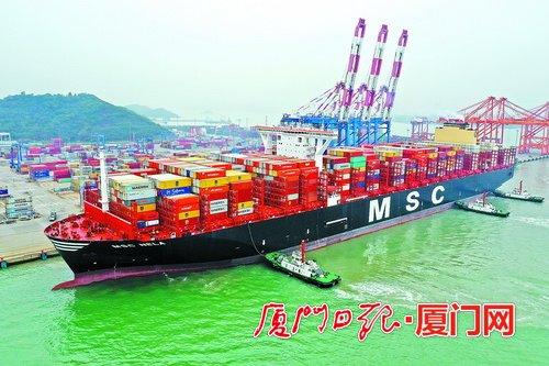 逆势创纪录!厦门港连续三月吞吐超百万标箱